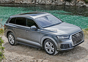 """Порог-площадка """"Black"""" Audi Q7 2015-"""