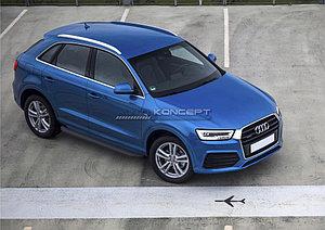 """Порог-площадка """"Black"""" Audi Q3 2011-2014"""
