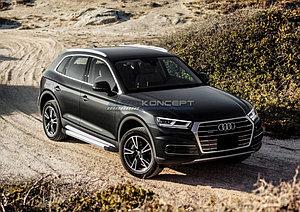 """Порог-площадка """"Silver"""" Audi Q5 2017-"""