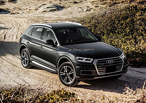 """Порог-площадка """"Black"""" Audi Q5 2017-"""