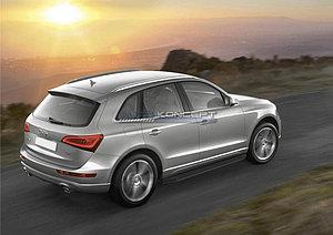 """Порог-площадка """"Black"""" Audi Q5 2012-2017"""