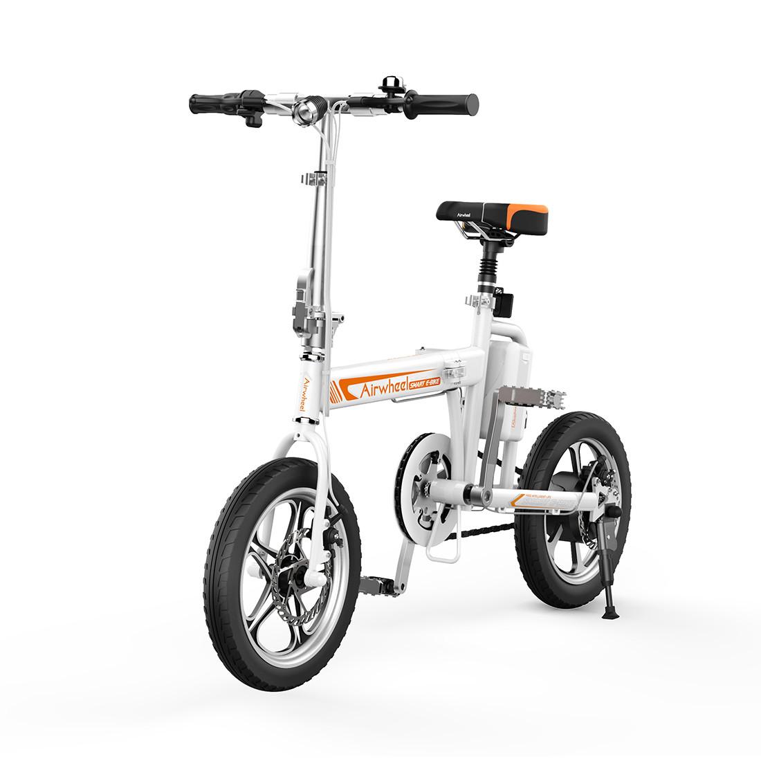 Электровелосипед, Airwheel, R5W, Скорость до 20 км/ч, Нагрузка до 100 кг, Белый