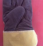 Перчатки комбинированные Спилковые утеплённые, фото 2