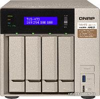 Qnap TVS-473-16G Сетевой RAID-накопитель, 4 отсека для HDD, 2 слота M.2 SSD, 2 HDMI-порта