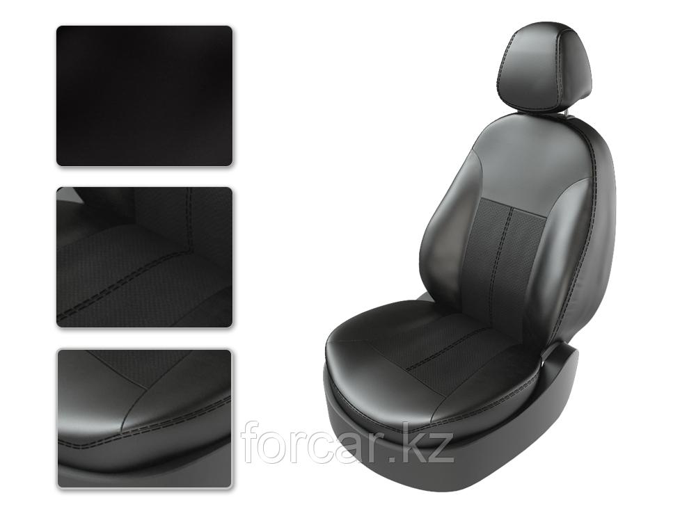 Чехлы модельные KIA SPORTAGE 3 2010-2013  черный/черный/серый CarFashion