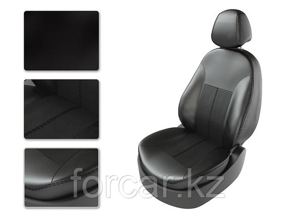 Чехлы модельные KIA SPORTAGE 3 2010-2013  черный/черный/серый CarFashion, фото 2
