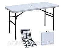 Пластиковый стол-чемодан 60*120 см