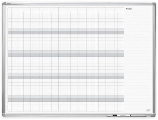 Доска годовой планер в раме ALU23 120x90 см 2x3 (Польша)