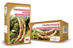 Фасоль обыкновенная, створки плодов фасоли, 30 г