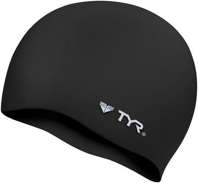 Шапочка для плавания TYR Wrinkle Free Silicone Cap 001 Черный