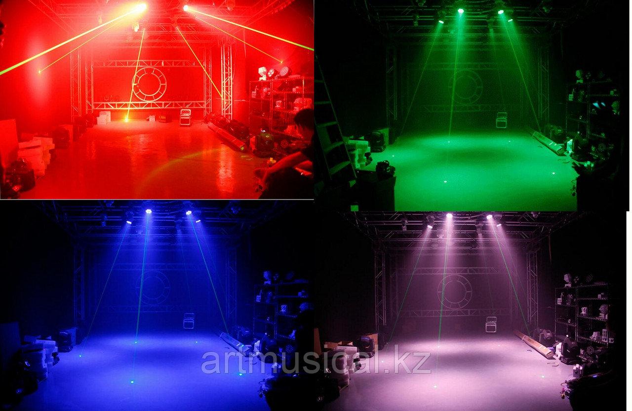 Голова Wash 6x10 W RGBW 4IN1 + Green laser
