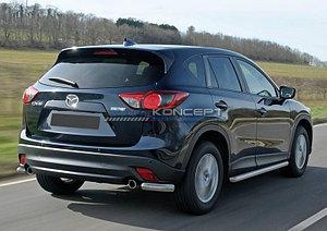 Защита заднего бампера d57 уголки Mazda CX-5 2011-2015-2017