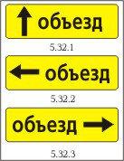Дорожный знак 5.32.1-5.32.3, фото 2