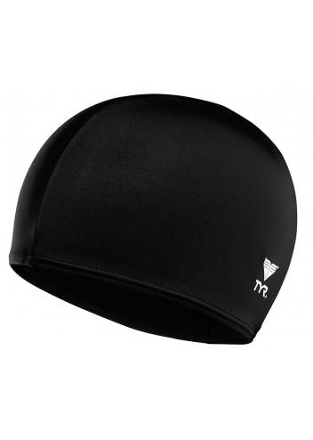 Шапочка плавательная TYR Lycra Fiber Swim Cap 001 Черный