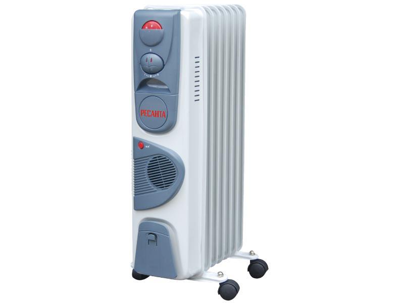 Масляный радиатор ОМ-9НВ с тепловентилятором