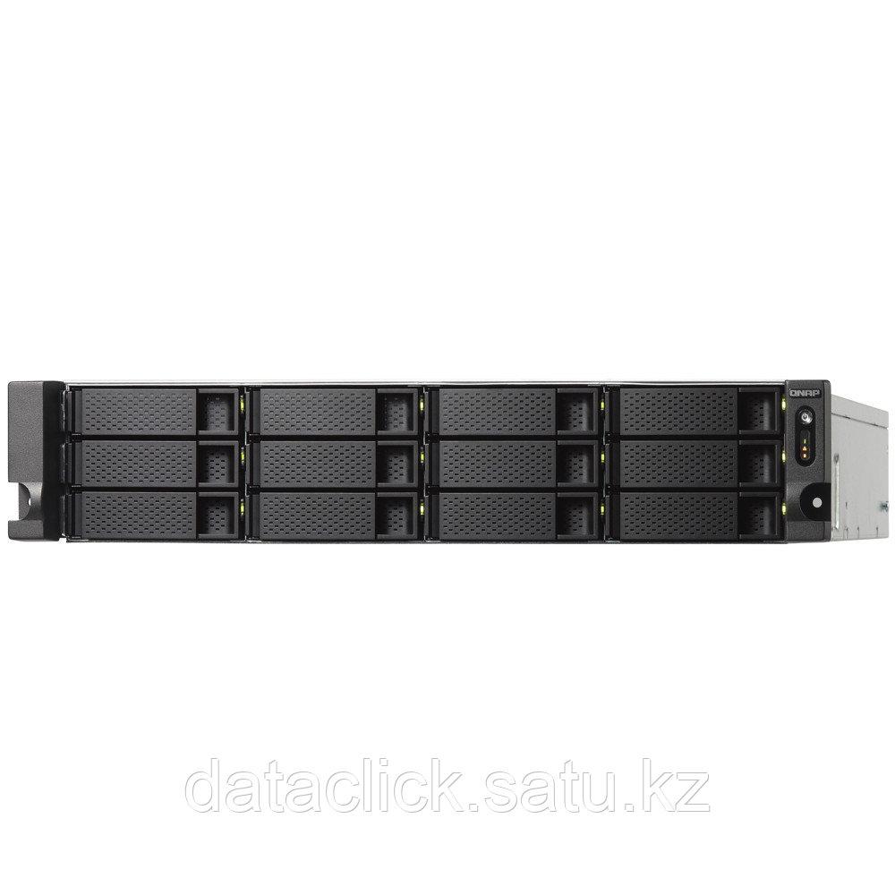 """""""Сетевой RAID-накопитель, 12 отсеков 3,5"""""""", 2 порта 10 GbE SFP+, стоечное исполнение, 2 блока питания. ARM Cor"""