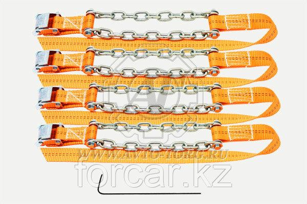 Браслеты противоскольжения R16-R21 усилен.,комплект 6шт (205/55-285/85, класс цепи Т8, 6мм, до 5,0т)
