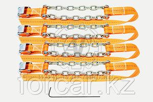 Браслеты противоскольжения R15-R19, комплект 6шт (205/55-275/85, цепь 6мм, до 3,5тонн)