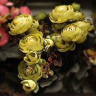 Цветы искусственные, розы, желтые