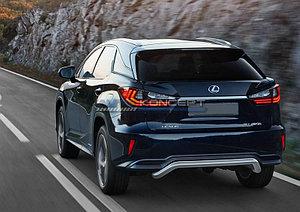 Защита заднего бампера d57 скоба Lexus RX, только для 450H 2015-
