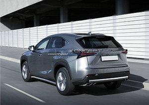 Защита заднего бампера 75х42 Lexus NX, только для NX200 2014-