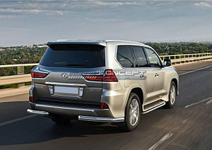 Защита заднего бампера d76 уголки Lexus LX 2015-