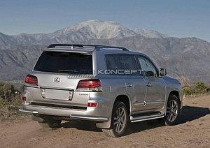 Защита заднего бампера d76 уголки Lexus LX 2012-2015