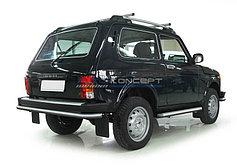 Обвес, защита бамперов, порогов из нержавеющей стали Lada (4х4) 1993-