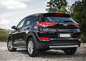 Защита заднего бампера 75x42 овал Hyundai Tucson 2015-
