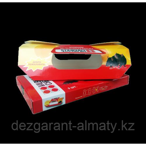 Приманочный домик (упаковка 5 шт.). Клеевая ловушка для отлова мышей