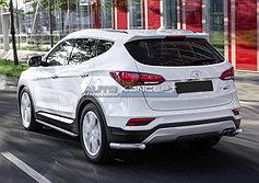 Обвес, защита бамперов, порогов из нержавеющей стали Hyundai Santa Fe Premium 2015-2016