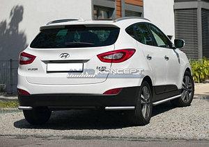 Защита заднего бампера d57 уголки Hyundai IX35 2013-2015
