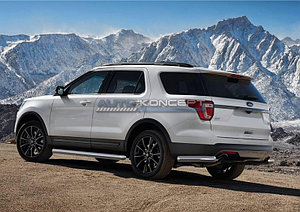 Защита заднего бампера d76 уголки Ford Explorer 2015-