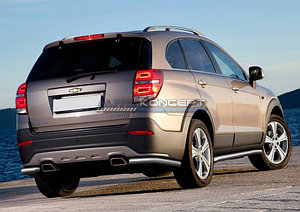 Защита заднего бампера d57 уголки Chevrolet Captiva 2013-