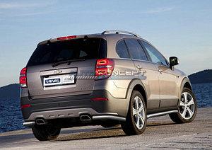 Защита заднего бампера d57 уголки Chevrolet Captiva 2011-2013