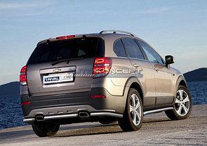 Защита заднего бампера d57 короткая Chevrolet Captiva 2011-2013
