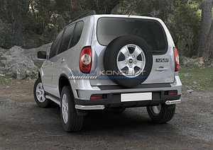 Защита заднего бампера d57 уголки Chevrolet Niva 2009-
