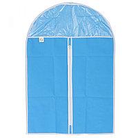 Чехол для хранения одежды на молнии (нетканый материал + ПВХ), 60 х 90 см ELFE