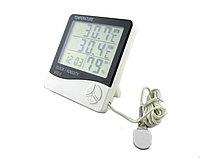 HTC-2 улично-комнатный термометр, гигрометр, часы, фото 1