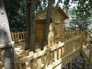 Деревянные садовые домики и домики на деревьях