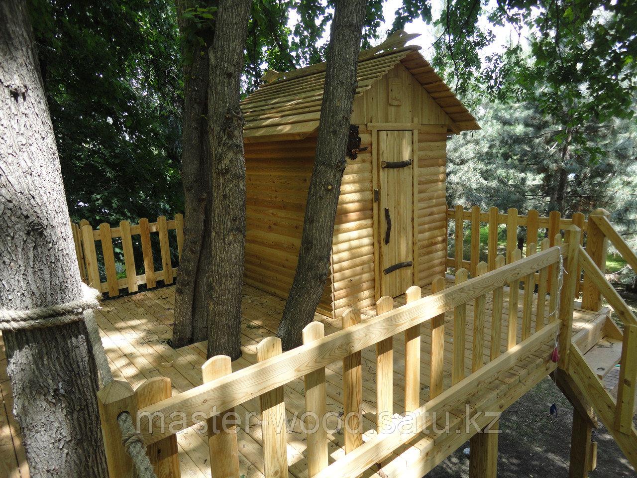 Деревянные садовые домики и домики на деревьях - фото 1