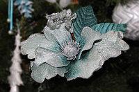 """Дизайнерское новогоднее украшение, """"Синий цветок"""", 15 см"""