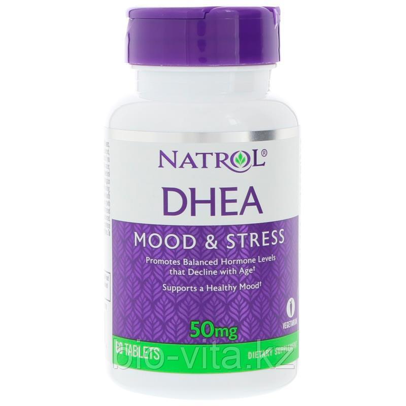 Natrol, DHEA, ДГЭА 50 мг, 60 таблеток