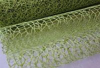 Сетка ажурная, листовая, 50*70 см, зеленая