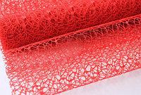 Сетка ажурная, листовая, 50*70 см, красная
