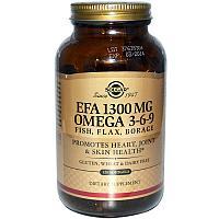 Solgar, Омега 3-6-9, 1300 мг, 120 капсул.