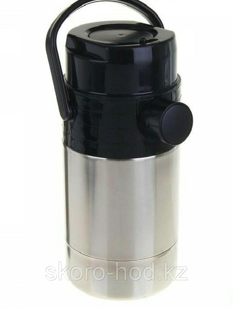 Термос с пневмонасосом Амет, 2 литра