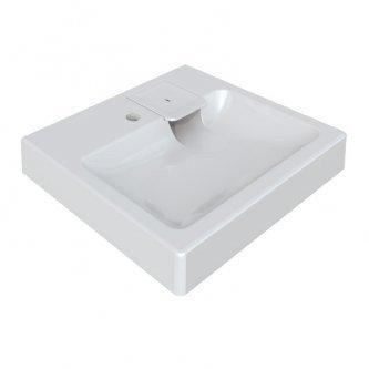 Раковина над стиральной машиной Монако V51 (белый). Мрамор., фото 2