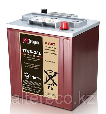 Аккумулятор Trojan TE35-GEL (6В, 210Ач), фото 2