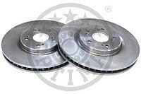 Тормозные диски  Honda  Accord  Tourer (передние,08-...,объем 2.4л, Optimal)